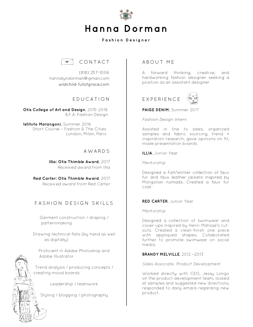 hannadormanresume decorated